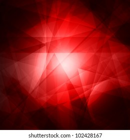 Abstract red background for design - vector illustration