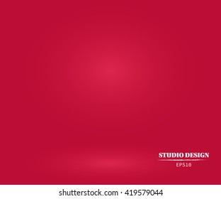 Abstract Red background design,studio,room, web template ,Business report with smooth circle gradient color. Vector Illustration