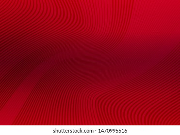 Abstract Red Background with Stripes. Vector Minimal Banner. Minimalist Geometric Texture with Gradient.