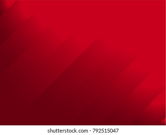 Abstract Red Background with Stripes. Vector Banner.