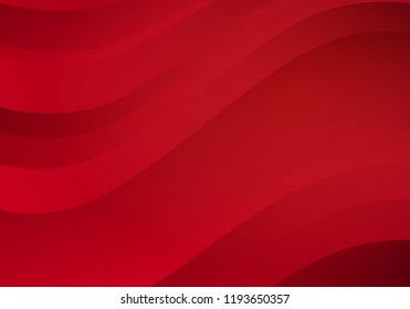 Abstract Red Background with Waves. Vector Minimal Banner.