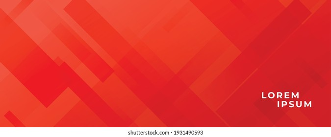 abstract red banner with diagonal lines