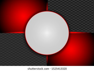 Abstract red and black background with empty space