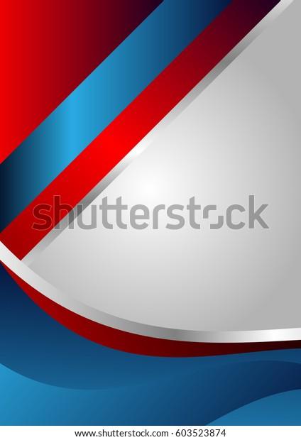 Abstract Red Blue Background Design Flyer Stock Vektorgrafik