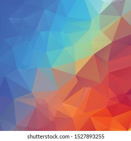 Abstract red and blue polygon texture background