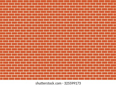 Abstract red brick vector background