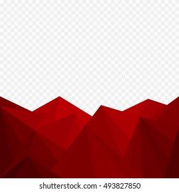 Abstract red geometric background, Christmas background - Vector