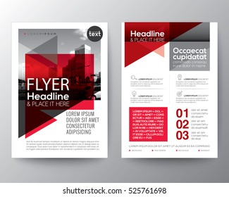 Abstract red geometric background for Poster Brochure Flyer design Layout vector template