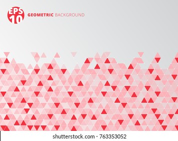 Abstract red geometric triangle structure background. Vector illustration