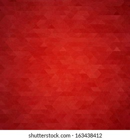 Abstract red geometric vector background with the .