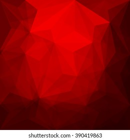 Abstract red geometrical background - Vector