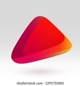 Abstract red gradient geometric icon colorful vector illustration. Blank color emblem for logo, text, lettering, tagline. Orange template button design. Web, print, user interface, application uses.
