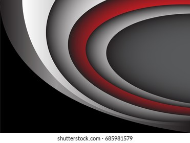 Abstract red gray curve overlap blank space for text place design modern futuristic creative background vector illustration.