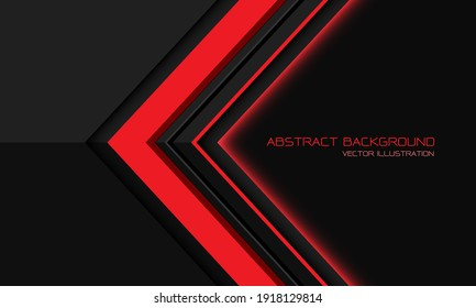 Abstract red grey metallic direction geometric arrow with blank space design modern futuristic background vector illustration.