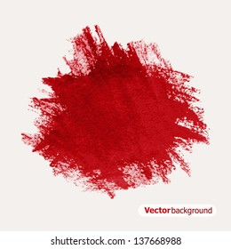 Abstract red grunge background. Vector illustration