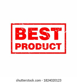 Abstract Red Grungy Best Product Rubber Stamp Sign Illustration Vector, Best Product Text Seal, Mark, Label Design Template