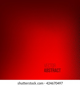 Abstract red halftone background. Dotted vector illustration. Business presentation concept