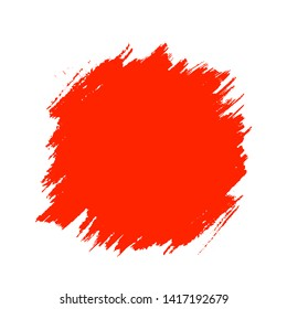 Abstract red hand drawn grunge painting, isolated on white background, grunge textured backdrop, vector