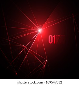 Abstract Red Laser Light   EPS10 Vector Background