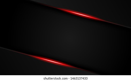 Abstract red light overlap background. Luxury bright red lines modern sport background vector illustration.
