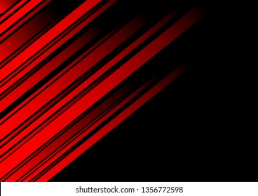 Abstract red line and black background for business card, cover, banner, flyer. Vector illustration