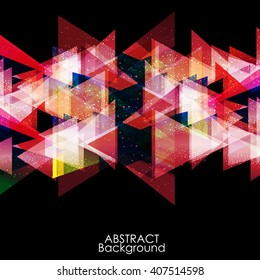 Abstract red modern triangle digital - Vector Background.