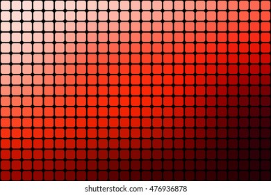 Abstract red mosaic background with square tiles over black, horizontal format.