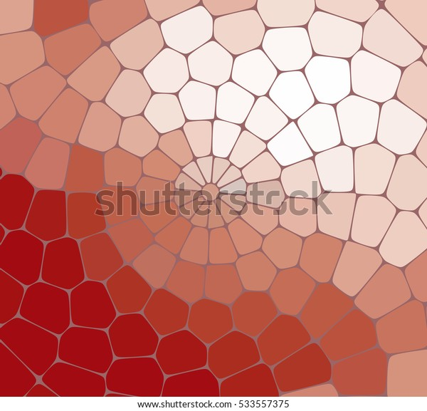 Abstract red mosaic pattern. Abstract background consisting of elements of different shapes arranged in a mosaic style. Vector illustration
