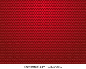 abstract red perforated metal background