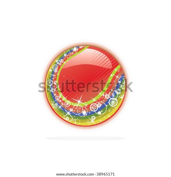Abstract Red Rainbow Christmas Tree Ball Stock Vector Royalty Free 38965171
