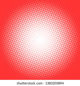 Abstract red retro comic pop art background with haftone dots design. Vector clear template for banner or comic book design, etc