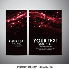 Abstract red shining line. Graphic resources design template. Vector illustration