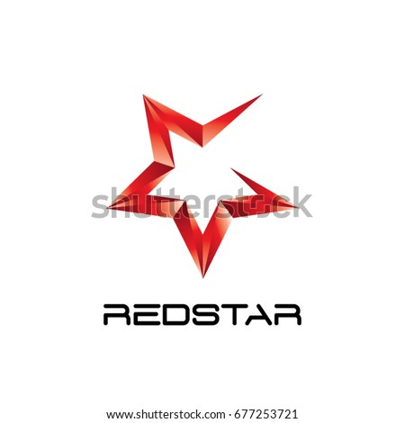 Abstract Red Star Logo Symbol Icon Stock Vector Royalty Free