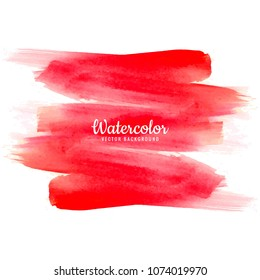 Abstract red watercolor hand draw stroke background