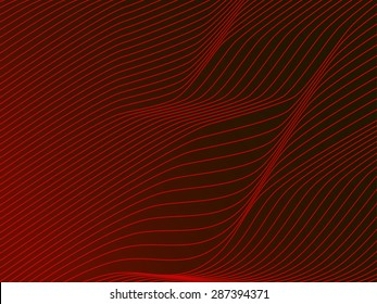 Abstract red wave vector background