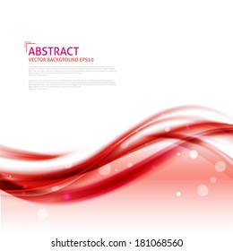 Abstract red waves background - Design Template. Bright red background with curved  lines. Vector abstract red background wave design element. Brochure design templates