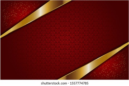 abstract red white with golden line background