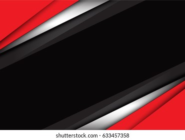 Abstract red white gray overlap design modern background vector illustration.