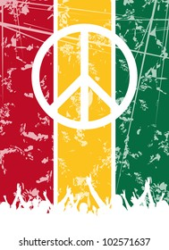 An abstract reggae party background for design