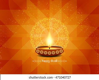 Abstract religious Happy Diwali vector background design.
