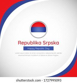 Abstract Republika Srpska country flag background. Classic happy republic day of Republika Srpska vector illustration.