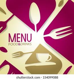 Abstract Restaurant Menu