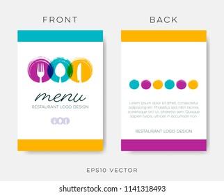 Abstract restaurant menu template vector brochure design