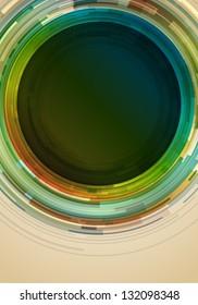 Abstract retro circles vector background
