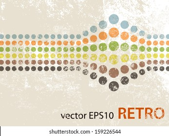 Abstract retro design with dots