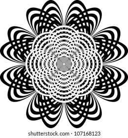 Abstract Retro Flower circles