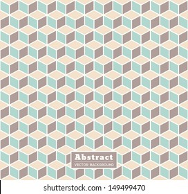 Abstract Retro Isometric Shape Background for Business / Web Design / Print / Presentation