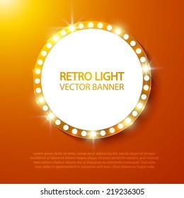 Abstract retro light banner. Vector illustration