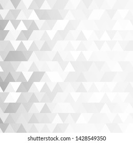 Abstract retro pattern of geometric triangles. Triangular white and gray background. Polygonal mosaic. Vector illustration.