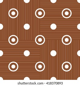 Abstract retro polka dot geometric seamless pattern background  with a fabric effect texture vector illustration